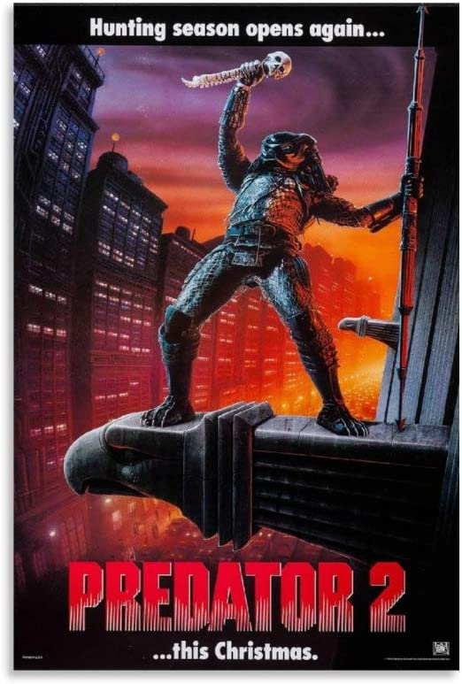 BAITUO 1 Predator 2 1990 mart Wall Dec Art Movie - Max 82% OFF Canvas Poster