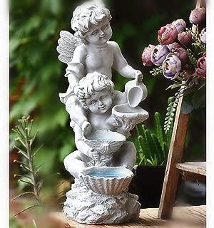 Vintage Résine Assis Fée De Jardin Extérieur Décoration Figure Ornement Sculpture