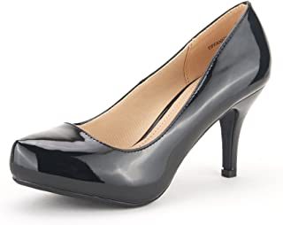Tiffany Women's New Classic Elegant Versatile Low Stiletto Heel Dress Platform Pumps Shoes