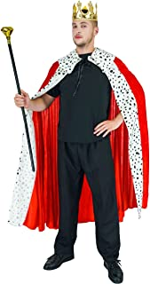 Men's Kings Costume,One Size, (Color - Red,gold,white)