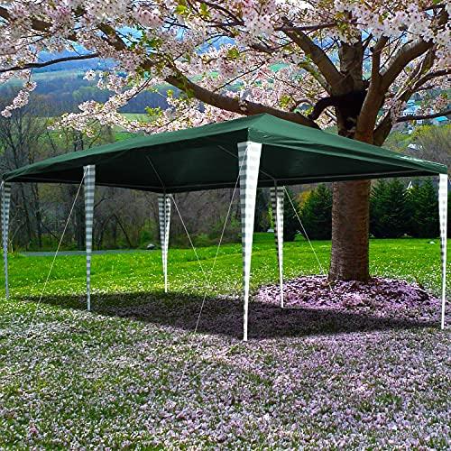 Clanmacy Pavillon 3x4m Wasserdicht Stabiles Partyzelt,Ohne Seitenteile,Wasserdicht Partyzelt für Markt Camping Hochzeiten Festival