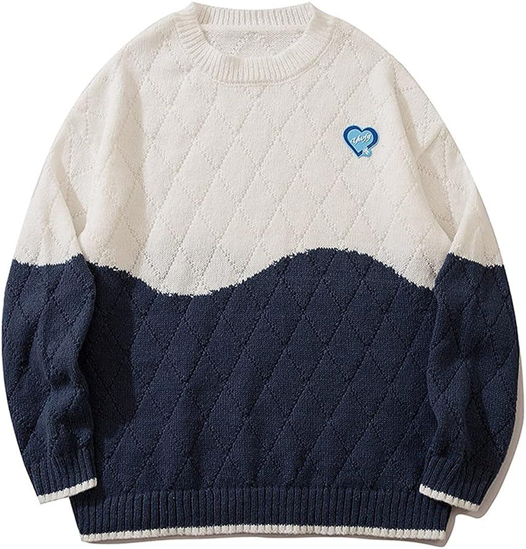 Harajuku Vintage Graphic Sweater Men Street Hip-Hop Jumper Knitted Sweater Hip Hop Pullover