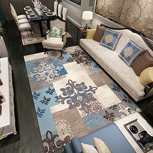 YXSSC Im Europäischen Stil Wohnzimmer Schlafzimmer Teppich Rutsch Teppich-Shop Für Zu Hause Teppich Großer Sofas Nordic Amerikanischen Raum Couchtisch Matten Matten,14,120X160cm