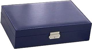 Boîte à Bijoux Une Couche en Cuir boîte à Bijoux Affichage Cas d'âge avec Serrure Bijoux boîte d'âge Accessoires Bijoux Ha...