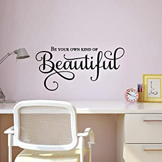 Be Your Own Kind of Beautiful Inspirational Wall Decal, Mirror Quote Wall Decor, 24