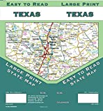 Texas Large Print, Texas State Map