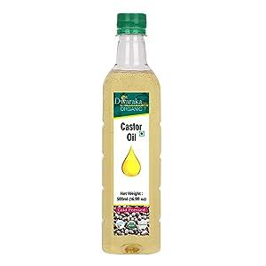 Dwaraka Organic - Cold Pressed Castor Oil, 16.9 Fl Oz, 500 ML, Healthy, Organic, Non GMO, All Natural