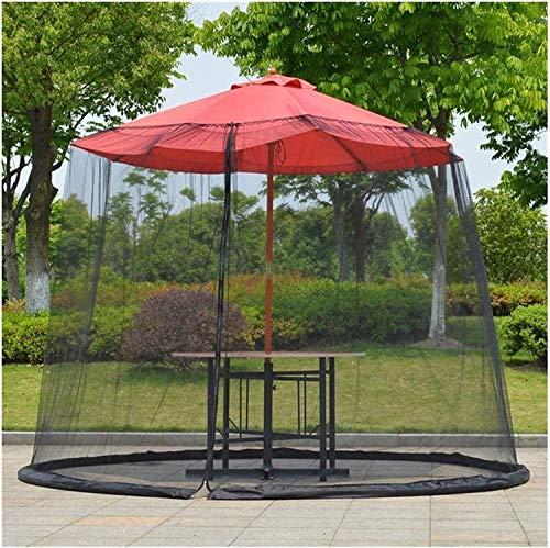 Cubierta portátil para mosquitos de jardín al aire libre, fundas de sombrilla para patio, sombrilla impermeable, fibra de poliéster para sombrilla o un Gazebot, excluyendo sombrilla y base