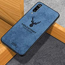 WPRIE Deer Pattern Art Cloth Surface PC + Soft Flex Silicone TPU Bumper Frame Shock Absorption Protective Cover Case Vivo S1 (Blue)