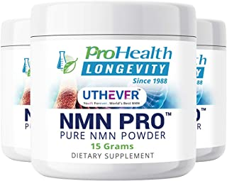 ProHealth Longevity PURE NMN Pro Powder 15 grams - Uthever Brand - World's most trusted, ultra-pure, stabilized, pharmaceu...