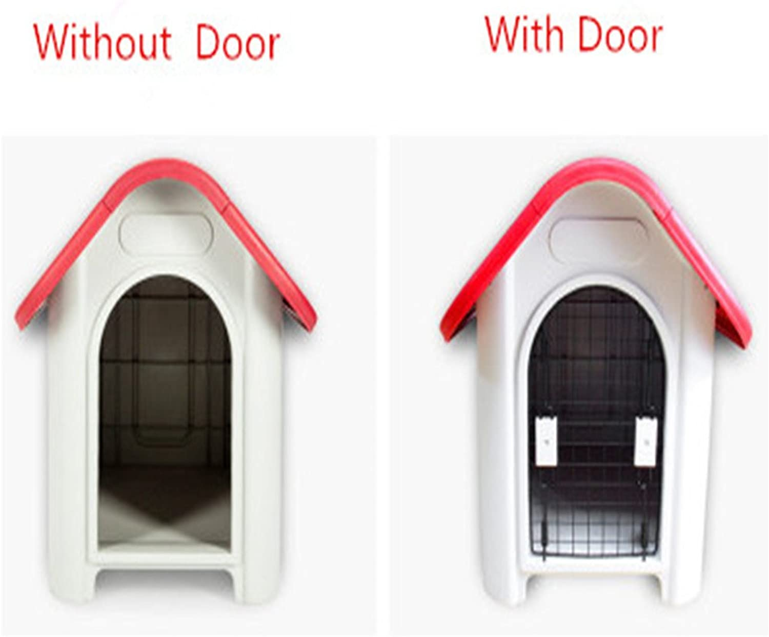 Jomax Small Outdoor Removable Rainproof Teddy Plastic Kennel Dog House Pet Nest without Door