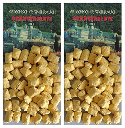 TRIMONTIUM GWR15-P2 - Incienso Griego en trozos de azahar, 2 x 25 g, para ahumar en carbón o...