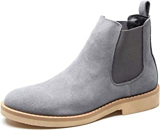 Men Ankle Boots Male Shoes Cow Suede Leather Quality Classic Chelsea Boots