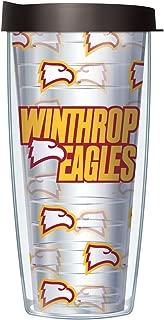 Winthrop University Repeat Logo Clear 22 Oz Traveler Tumbler Mug with Lid