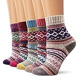 Moliker Lana Calcetines, Calcetines de mujer Calcetines de invierno Vintage Suave Calcetines calientes por invierno