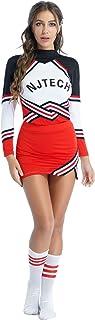 Aislor Uniforme déguisement de Pom-Pom Girl Femmes Ensemble Vêtement Gymnastique Danse Sport High School Musical Halloween...