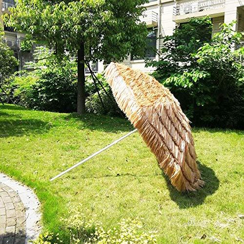YLLN Ombrellone da Giardino   Diametro Superficie 2,4 m   Ombrellone in Paglia per Patio/Spiaggia/Balcone/terrazza/Festa/Pesca   Altezza 2,35 m   Parasole Esterno Senza Base, Naturale
