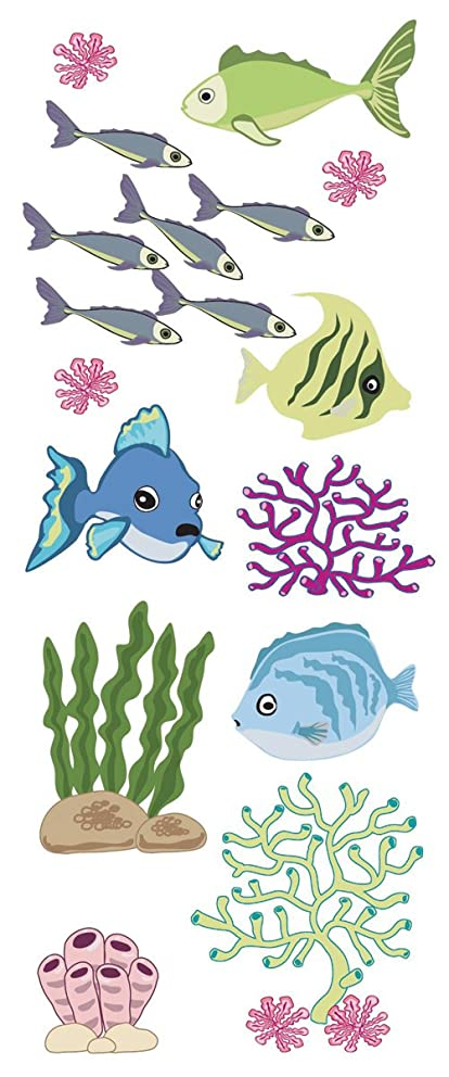 Jolees Touch of Jolee's Dimensional Stickers, Fish and Coral