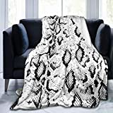 Dujiea Snake Skin Fuzzy Flannel Blanket Throw 40'X50', Super Soft Lightweight Blanket Throw for Couch Chair Sofa, Cozy Bed Blanket for Kids Adults