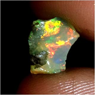 EMARTWALA 01.70Ct 100% Natural Ethiopian Fire Welo Opal Play of Color Rough Specimen,Ethiopian Opal Ring Ethiopian Opal Necklace Ethiopian Opal Earrings Ethiopian Opal Beads