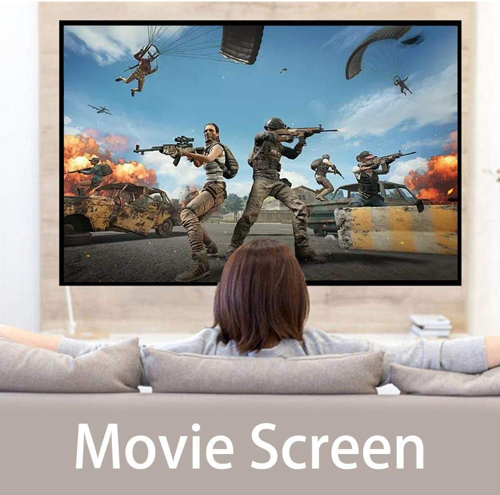 Projection Screen Portable Movie Screen 4 : 3, Foldable Portable Projector Movies Screen Household Light Resistant Projection Screen for Home Theater Outdoor Indoor