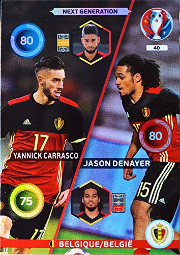 carte PANINI EURO 2016 #40 Carrasco - Denayer