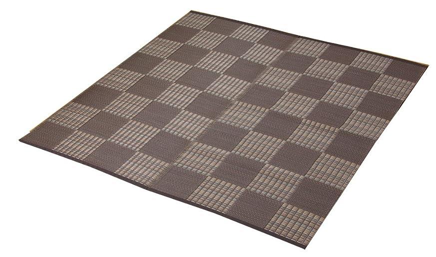 裁量パスタ論理的イケヒコ ラグ カーペット ウィード 江戸間4.5畳 約261×261cm ブラウン 日本製 洗える #2117004