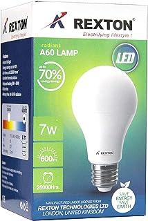 Rexton RA6-7R RA60-7 LED Bulb A60 7 Watt, White,