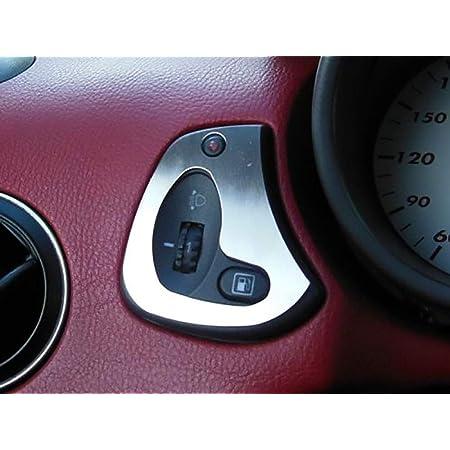 Interieur Stahlabdeckung Für Alfa Romeo Gtv Spider 916 2 Stück Scheinwerferhöhenverstellung Platte Zubehör Edelstahl Gebürstet Blenden Cockpit Dekor Mass Angefertigt Auto