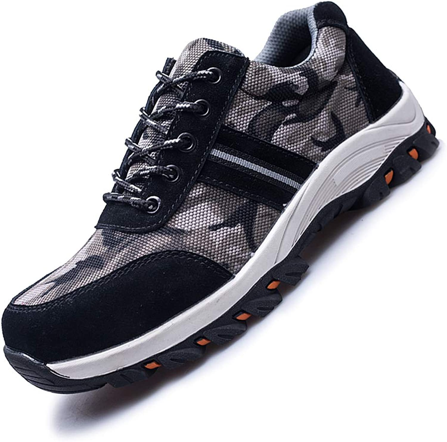 JACKSHIBO Steel Toe shoes Men Women, Work Safety shoes Breathable Industrial Construction shoes