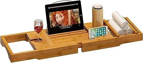 Bad Caddy Brug met Smart Phone Boek Frame Plank Wijnglas Houder Bad dienblad Bad dienblad Bad dienblad Premium kwaliteit n...