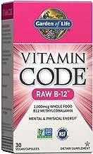 Garden of Life B12 - Vitamin Code Raw B-12 - 30 Capsules, 1,000mcg Whole Food B12 Methylcobalamin for Energy, Vegan Methyl...