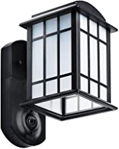 Maximus Craftsman Smart Security Textured Black Metal and Glass Outdoor Wall Lantern
