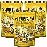 [3個セット]ハニーバターミックスナッツ220gX3袋 ナッツ アーモンド カシューナッツ マカダミア クルミ おつまみ お土産 韓国食品 定番 お得