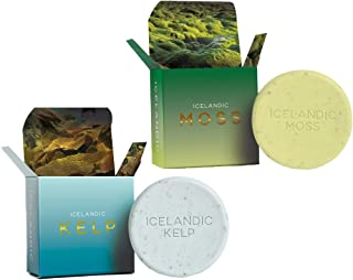 Exfoliating Bars of Soap From Natural Ingredients, Assorted Scents - Icelandic Kelp and Moss, Set of 2, 4.3 Ounce Each