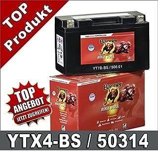 Motocicleta batería 4Ah YTX4L-BS YB4L de B 50314AGM Roller batería Banner