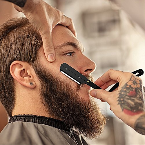 Equinox Professional Straight Edge Shaving Razor – Matte Black