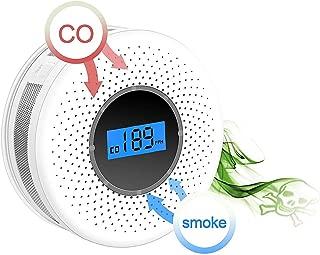 Blanco Talla /única Detector de Humo Detector de Humo mon/óxido de Carbono para la Escuela almac/én DragonPad Detector de Humo Compuesto 2 en 1