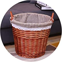 YAYADU Storage Basket Rattan Finishing Box High Capacity Hand Weave With Carry Handle Store Toy Vegetables Books Clothes H...