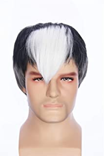fbewig:Short Black and White Two Tone Anime Cosplay Costume Wigs Voltron Shiro Party Wig