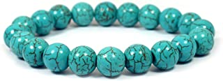 Crystu Natural Crystal Stone Bracelet 10 mm Round Beads Bracelet for Reiki Healing and Crystal Healing Stones