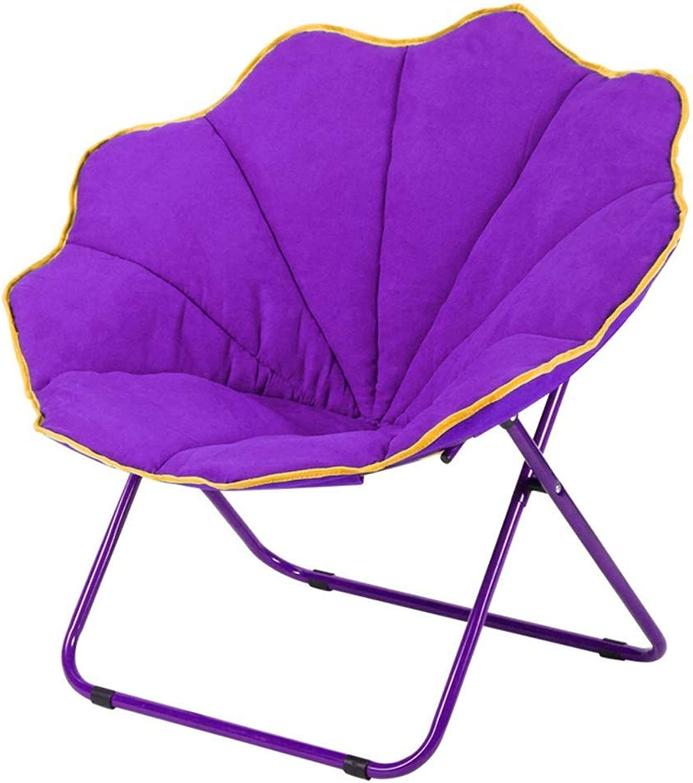 RMXMY Stylish and Comfortable Adult Moon Chair Sun Chair Lazy Chair Folding Chair Round Chair Leisure Sofa Chair Recliner Radar Chair (color   B)