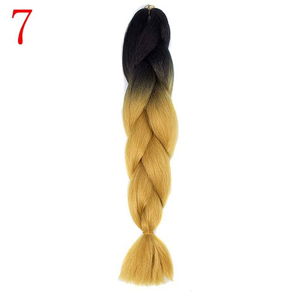 24 inch Ombre Synthetic Crochet Hair Extensions Hairstyles Pink Blonde Red Blue Braiding Hair,P2/613,24inches