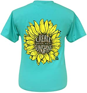 Girlie Girl Originals Create Your Own Sunshine Scuba Blue Short Sleeve T-Shirt