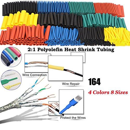 ZREAL Lot de 164 gaines thermorétractables en polyoléfine