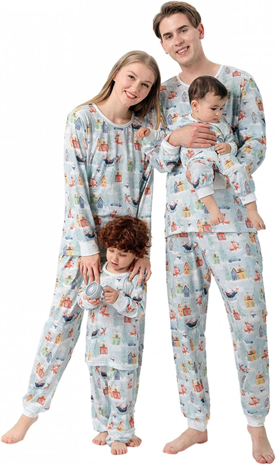 Family Matching Pajamas Set Cheap sale Christmas Discount is also underway Tops Pjs Sleeve Print Long