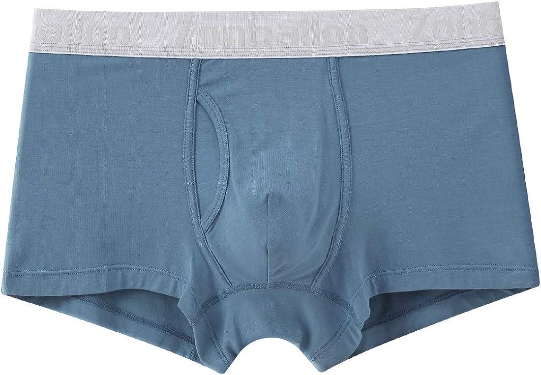 ZONBAILON Mens Underwear Boxer Briefs Open Leg Short Soft Popularity San Diego Mall Fly Ba