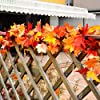 2 Pack Fall Maple Leaf Garland 5.9ft Artificial Autumn Leaves Garland Decorations for Thanksgiving Halloween Outdoor (Red) #4