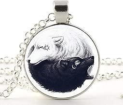 Yin Yang Wolf Sun and Moon Pendant, Necklace,Women Dress Jewelry