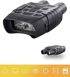 Prismáticos de visión nocturna digital 7 x 31 mm 231 pulgadas TFT pantalla LCD con 32 GB TF tarjeta cámara fotos grabadora de videos en la oscuridad completa